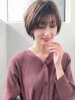 小顔前髪×ラベンダーカラー×イヤリングカラー×新宿