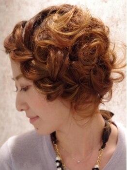 バンカ プラスエヌ(BANCA+n)の写真/【近江八幡駅5分】女子会やパーティ、結婚式など大切な日のヘアセットはここで決まり!似合わせアレンジ★