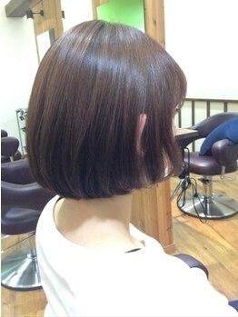 ウフヘアー(ufu hair)の写真/高い技術力でお客様に好評いただいているスタイリストがデザイン+モチ・再現性をアナタにご提案致します。