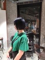 ブロック ジャポン(bloc japon)ブルーブラックきりっぱなしミニボブ