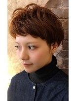 magiy hair [nico]ナチュラルエアリーショートオレンジブラウン