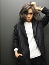 ヘアーローラン 藤沢(hair LORAN fujisawa)ダークアッシュ ホワイトパープル 外国人風ハイライト