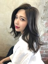 アフロート ルヴア 新宿(AFLOAT RUVUA)透明感ある暗髪スタイル☆#小顔フェアリーエレガンス