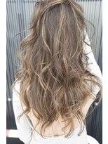 ヘアーリゾート マッシブ 大宮(MASSIVE)シャドールーツハイライトカラーかきあげ前髪 MASSIVE大宮