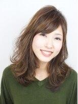 ヘアメイクエシェル 小松店(Hair Make e‐shell)3Dカラー×ゆるふわウェーブ