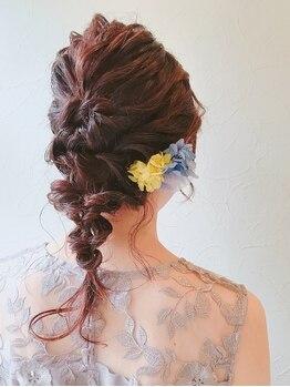 フラヴェス(floves)の写真/【駅西】 結婚式やパーティ、特別な日だから…あなただけにぴったりの特別なStyle提案 【※要TEL予約】