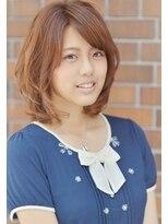 甘めバングの大人可愛いナチュラルセミディ☆【nanana parena】