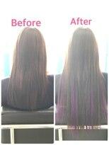 マーメイドヘアー(mermaid hair)ダークブラウン+紫メッシュ=胸下ロング細め40本
