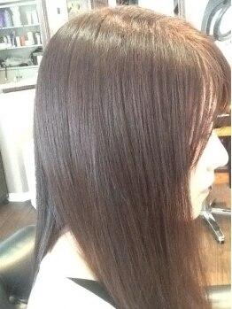 ワンズヘアー(ONE's HAIR)の写真/輝く髪に感動!!縮毛矯正とカラー&毛先カールを傷めずに同時施術できる♪自然なストレートヘアはお任せ☆