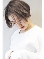 ヘアサロンガリカアオヤマ(hair salon Gallica aoyama)『 束間 & グレージュ』小顔シルエット おしゃれ ミニマムボブ