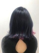 ポッシュ 原宿店(HAIR&MAKE POSH)ブルー×ピンク