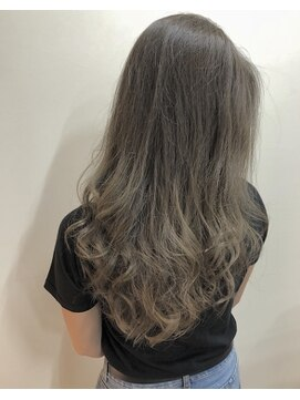 ノル(nol hair&spa)ハイライトグラデーション×グレージュ