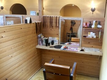 オッジヘアー(Oggi Hair)の写真/ごゆっくり過ごせる個室をご用意しております!癒しの空間でおくつろぎください☆