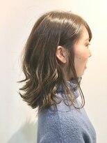 フレイムスヘアデザイン(FRAMES hair design)赤み消しグレージュ×外ハネセミディ