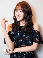 フローレス バイ ヘッドライト 三鷹店(hair flores by HEADLIGHT)シースルーバング無造作ウェーブミディ