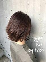 美容室 ツリー(Tree)ノンブローでおさまる大人ボブ 『Tree hairsalon 』本厚木