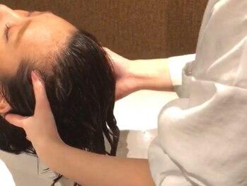 ミュー 北仙台(mieux)の写真/《北仙台駅前》髪のお悩みに合わせたヘッドスパをご用意!!日々の疲れを癒して、リラックスできる♪
