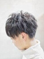 【メンズシャビ/メンズ専門】Tomi黒髪束感×ミニマッシュ