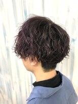 ハイトーンカラーナチュラルパーマ毛先カラーマッシュヘア