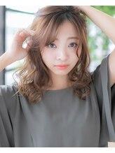エヌアンドエー 春日部東口店(hair shop N&A)鎖骨ミディアム×ミディアムアレンジ