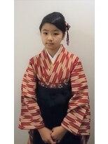 横濱ハイカラ美容院(haikara美容院)小学生の袴とヘアセット