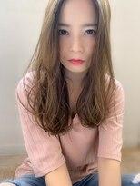 【添田】透明感カラー大人かわいい束感ロング