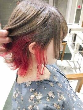 デイズ(days)ピンクインナーカラー☆アッシュグレーブリーチWカラー