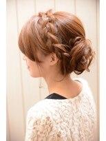 編みこみの【mielhair新宿】結婚式やパーティーにおすすめ☆編みこみセット画像