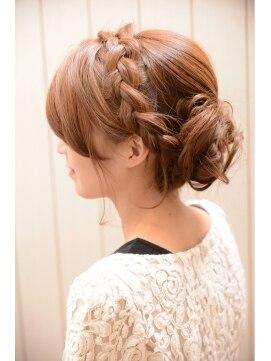 結婚式の髪型 ヘアアレンジ ☆編みこみセット