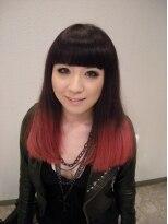ヘアーメイク カリユ(HAIR MAKE kariyu)ホットレッド 2トーンカラー