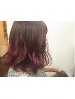 ヘアーアンドメイク ポッシュ 新宿店(HAIR&MAKE POSH)暖色系グラデーションカラー!pink!