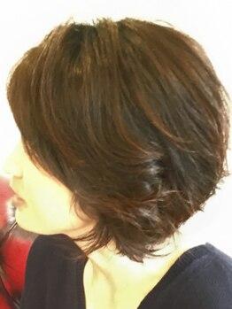 グレイス(Grace)の写真/ダメージレスで髪に優しく綺麗な髪に★ミストの力で浸透しやすくしてカラーするから艶/手触り/色持ち◎♪