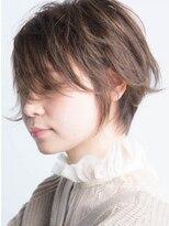 【REJOICEhair】ヌーディベージュのスウィングショート sakuma