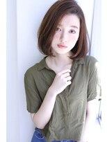 明るめ白髪染め×3Dカラー×大人上品ボブ☆
