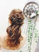 ヘアセットサロン アトリエ チャイ(Hair set salon atelier CHAI)ブライドハーフアップ