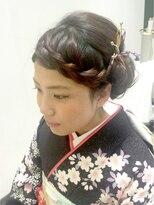 ヘアアンドネイル アアルト 東急プラザ戸塚店前髪編み込み☆和風かわいいセット♪