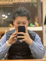 のばして→パーマ