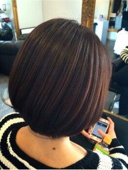 リラシー 石岡店(RELASY hair&beauty)の写真/頭皮や髪に優しいオーガニックカラーやジュエリーカラーでダメージを最小限に!
