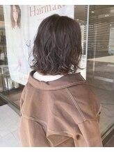 ヘアメイク シュシュ(Hair make chou chou)デジタルパーマボブ×アッシュカラー【chou-chou 北林夏実】