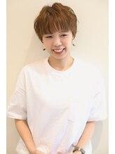 ラポールヘアー(rapport hair)倉敷【rapport hair】お洒落マッシュ丸みショート 【星原 礼次】