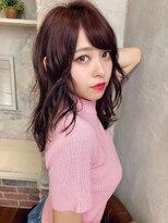 アフロート ルヴア 新宿(AFLOAT RUVUA)ベリーショコラとベリーピンクで創るお色気カラー☆