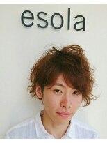 エソラ(esola)★好感度!メンズ ニュアンスパーマ 【esola】