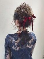 アリス ヘア デザイン(Alice Hair Design)Alice☆ベロアリボンのボブアレンジ