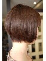 キーナ(Organic Hair KI-NA)首が細く見える!顔が小さく見える!チョコレート色のボブ☆
