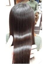 コレットヘア(Colette hair)ストレート×カラー同時施術
