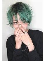 ユーフォリア 新宿通り(Euphoria)【Euphoria】グリーンカラーショート☆担当 毛利☆