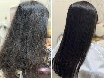 ヘアーカルチャー 小倉台店 HAIR CULTUREの写真/従来の縮毛矯正では考えられないほどの艶やかさと手触りが実現できる!大好評【髪質改善ストレート】