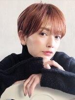 アルバム シブヤ(ALBUM SHIBUYA)オレンジマッシュショート_セシルカットココアブラウン_76908