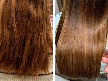 フラン(flan)の写真/straight-くせ毛・うねりバイバイ▼髪質改善