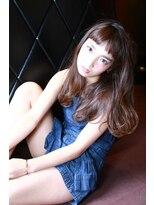 モード ケイズ 塚本店(MODE K's)艶カラーふんわりミディラフウェーブ&オン眉シースルーバング